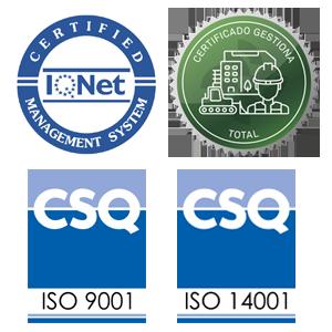 Certificado de calidad y medio ambiente Puertas Arteviblock
