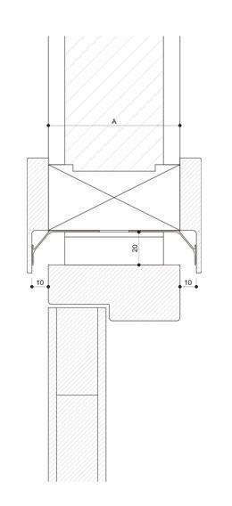 Detalle de cerco ignifugo R.F.30